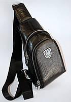 Мужская кожаная сумка-слинг принт рептилия, сумка-мессенджер через плечо PHILIPP PLEIN  реплика