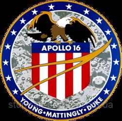 Патч шашивка Космічна програма Аполлон 16 Місія NASA