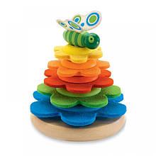 Развивающая игрушка Djeco - Пирамидка фетровая Бабочка