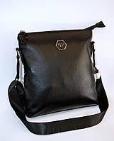 Мужская кожаная сумка  PHILIPP PLEIN  реплика, сумка мессенджер, планшет.