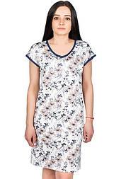 Нічна сорочка жіноча ночнушка красива ніжна трикотажна сорочка віскозна