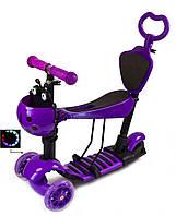 """Самокат Scooter """"Божья Коровка"""" 5в1. Фиолетовый."""