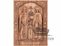 """Ікона (икона) """" Святые мученики Рафаил, Николай и Ирина Лесбосские"""""""