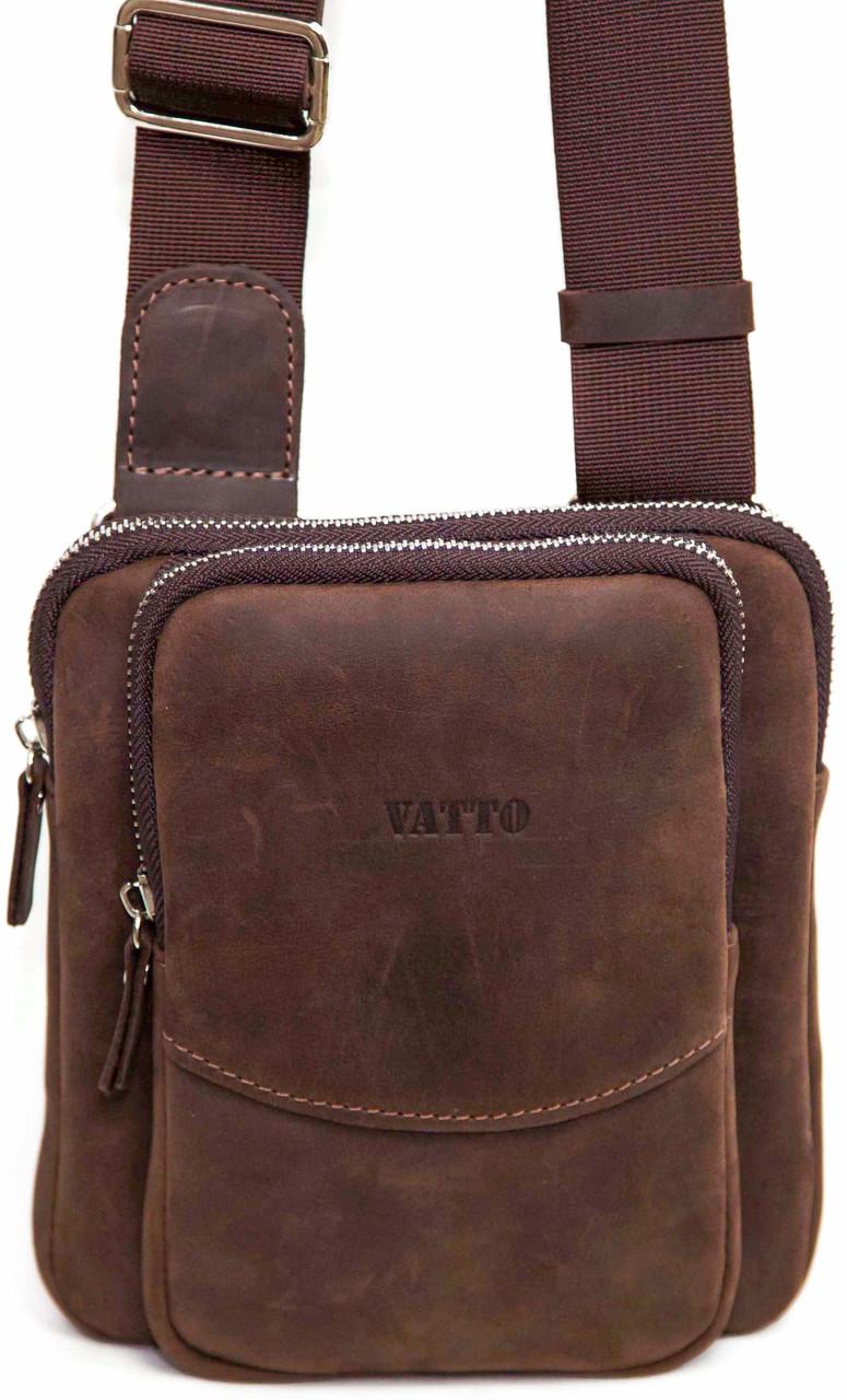 Чоловіча шкіряна сумка Vatto Mk12 Kr450 (Україна)