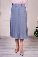 Легкая летняя женская юбка годе Тая серая, фото 1