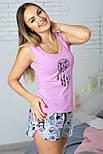 Хлопковый комплект домашний с шортами женский пижама для дома , фото 2