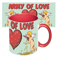 Подарочная чашка для влюбленных Армия любви