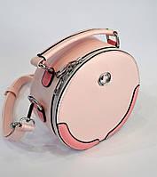Женская летняя сумочка через плечо цвета пудры