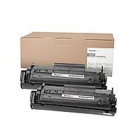 Картридж HP 12A (Q2612A), Black, LJ 1010/1020/1022/3015/3020/3030/3050/3055, 2000 стр, PrintPro, Dual Pack (PP-HQ2612/FX10DP)