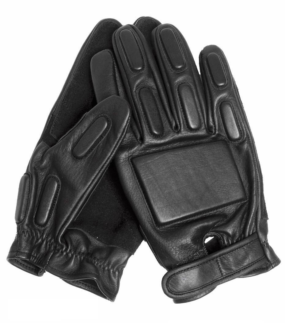 Тактические перчатки кожаные с защитными вставками MilTec Black 125010