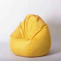 Безкаркасне крісло-мішок Жовте, висота 1 м,діаметр2,6 м/ Кресло-мешок 1/2,6 Желтый