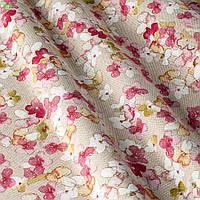 Декоративная ткань с нежными лепестками роз на светло-сером Испания 400193v1