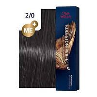 Краска для волос стойкая Wella Professional Koleston Perfect Me+ 2/0 черный натуральный 60 мл