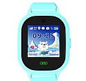 Детские Водонепроницаемые часы с gps TD05 голубые, фото 2
