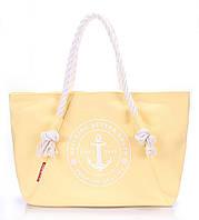 Котоновая летняя сумка Poolparty с морским принтом (желтая)