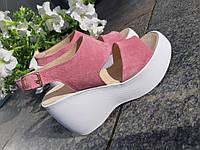 Босоножки  на танкертке Лесли розовые, фото 1