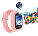 Детские Водонепроницаемые часы с gps TD05 розовые, фото 5