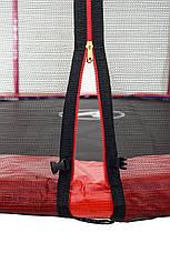 Батут Atleto 252 см с двойными ногами с сеткой красный, фото 3
