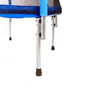 Батут Atleto 140 см с сеткой синий, фото 2
