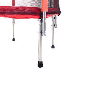Батут Atleto 140 см з сіткою червоний, фото 2