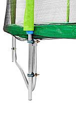 Батут Atleto 183 см с двойными ногами с сеткой зеленый, фото 2