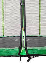 Батут Atleto 252 см с двойными ногами с сеткой зеленый, фото 3