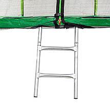 Батут Atleto 252 см с двойными ногами с сеткой зеленый, фото 2