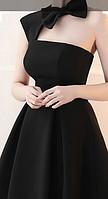 Жіноче чорне плаття на одне плече. Будь-який розмір та колір., фото 3