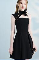 Жіноче чорне плаття на одне плече. Будь-який розмір та колір., фото 5