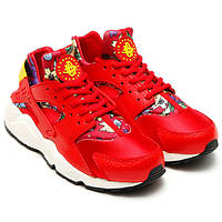 Женские кроссовки Nike WMNS Air Huarache Aloha University Red Sail Black Yellow Women, РАЗМЕР 37