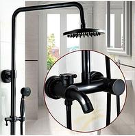 Душевая стойка черная для ванной 5-040