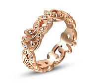 Кольцо букет покрытие золото 18К фианиты