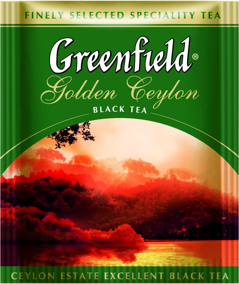 Чай пакетированный Greenfield Golden Ceylon 100 пак. x 2 г