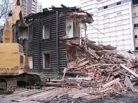 Демонтаж дерев'яного будинку ціна Знесення дачного будинку вартість