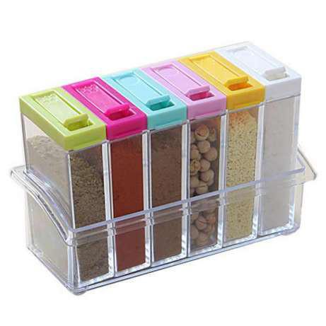 Набор контейнеров для специй Seasoning six-piec set, 6 шт., спецовницы для приправ