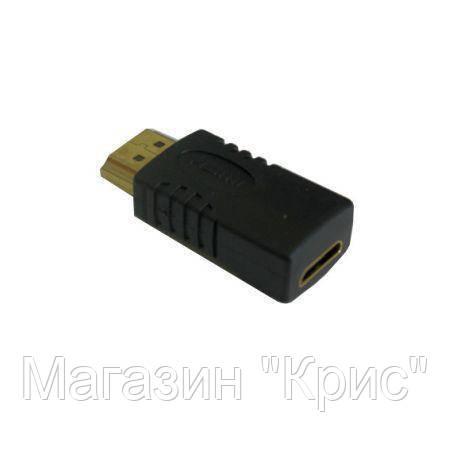Переходник HDMI M/mini HDMI F!Акция