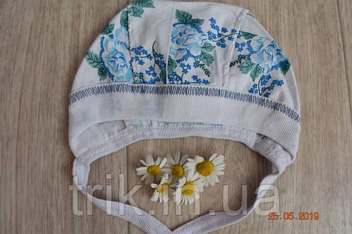 Чепчик детский TRIK расцветка голубая роза, фото 2
