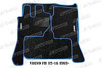 Volvo FH 12-16 1993- ворсовые коврики (чёрный-синий) ЛЮКС