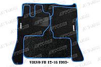 Volvo FH 12-16 1993- ворсовые коврики (антрацит-синий) ЛЮКС