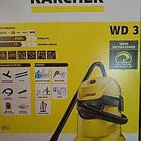 (Оригинал) Пылесос Karcher WD3 для сухой и влажной уборки
