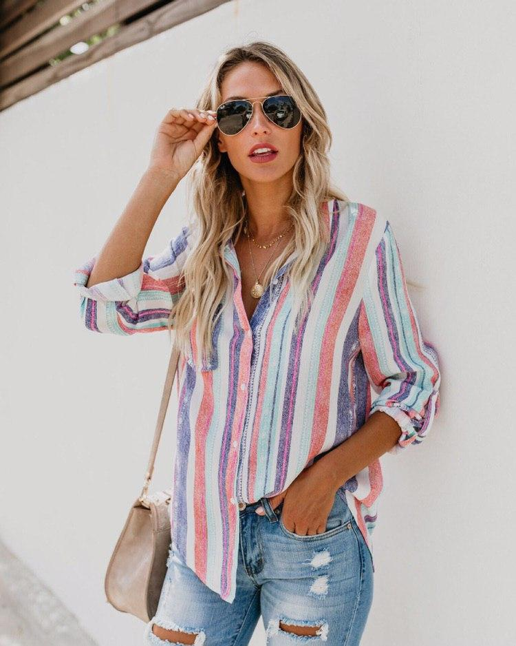 Женская блуза цветная