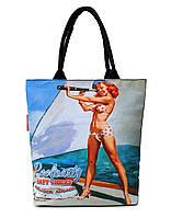 Котоновая летняя сумка Poolparty Navy Chicks