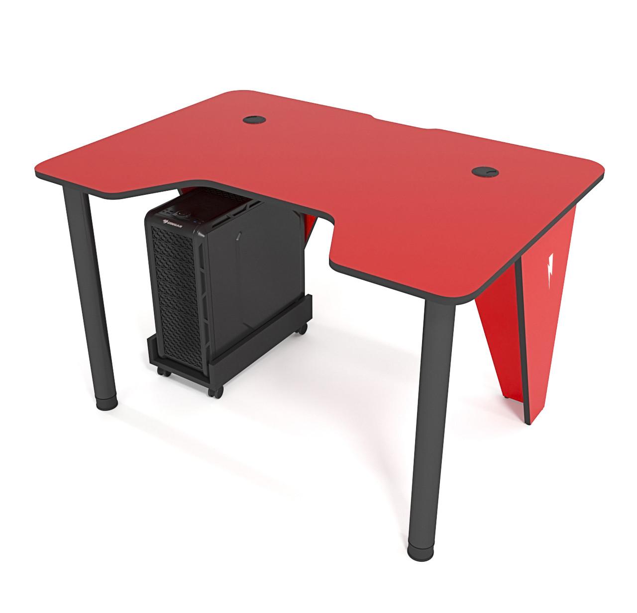 """Стол компьютерный 120х80х75 см. """"Ivar-1200"""" Геймерский, красный/черный"""