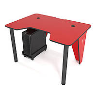 """Стол компьютерный 120х80х75 см. """"Ivar-1200"""" Геймерский, красный/черный, фото 1"""