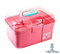 Кейс, бокс, контейнер для косметики, пластиковий різні кольори, фото 1