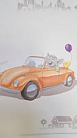 Обои виниловые на флизелиновой основе G.L.Design 23263 COLOURFUL детские машины воздушные шары, фото 1