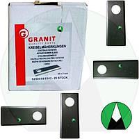 Нож Granit 96x40x3 25 шт. польской роторной косилки (1.35 м) | 5036010453 GRANIT