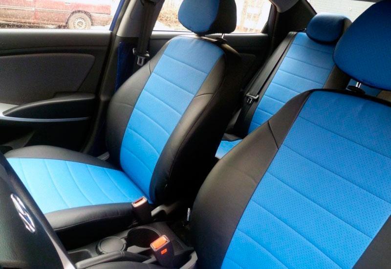 Чехлы на сиденья Джили МК2 (Geely MK2) (универсальные, экокожа, отдельный подголовник)