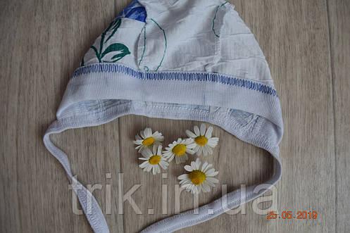 Чепчик детский TRIK жатка расцветка голубая роза, фото 2