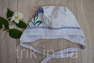 Чепчик детский TRIK жатка расцветка голубая роза, фото 3